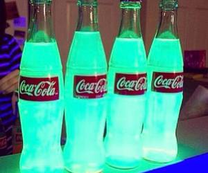 coca cola, drink, and green image