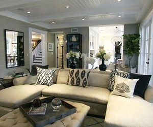 chic, living room, and livingroom image