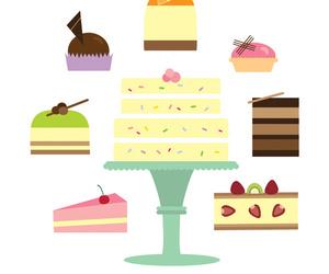 art print, cakes, and dessert image
