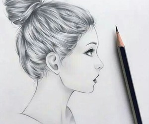cute girl, drawing, and pretty girl image