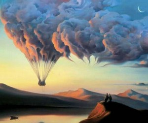 clouds, sky, and art image