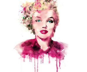 Marilyn Monroe and watercolor image