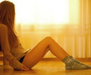 blonde, hair, and legs image