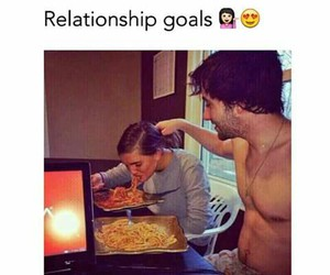 couple, food, and romantic image