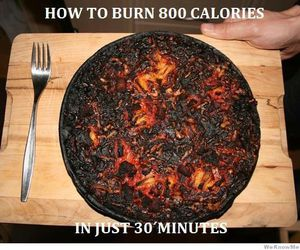 funny, pizza, and calories image