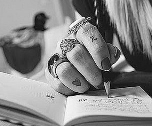 girl, tattoo, and rings image