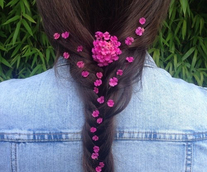 flowers, hair, and fashion image