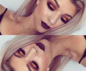 blending, dark lips, and eyeshadow image