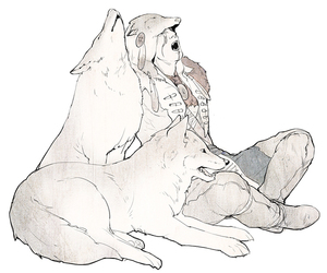 fanart, wolf, and connor kenway image