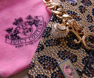 juicy couture, pink, and iphone image