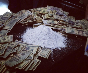 drugs, money, and cocaine image