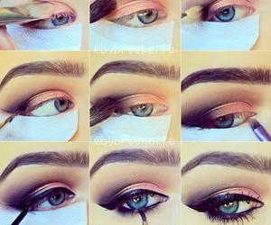 diy, eye makeup, and eyeshadow image