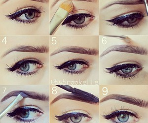 make up, brows, and concealer image
