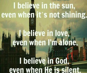 alone, god, and shining image