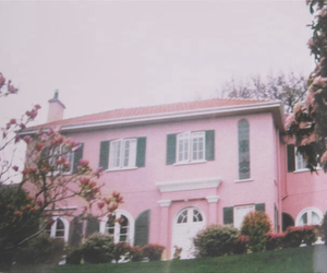 pastel pink and pastel house pale image