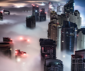 city, fog, and magic image
