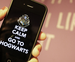 hogwarts, keep calm, and harry potter image