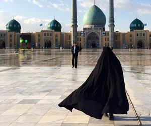 black, hijab, and mosque image