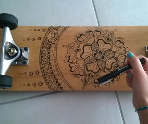 skateboard, drawing, and skate image