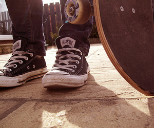 converse, skate, and all star image