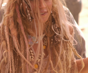 dreadlocks, dreads, and feather image