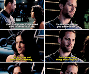 paul walker, fast and furious, and michelle rodriguez image