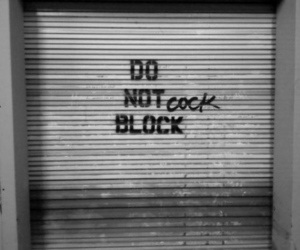 black and white, funny, and garage image