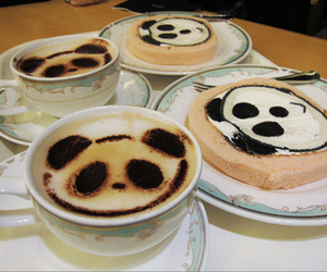 panda, coffee, and drink image