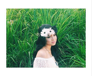 fashion, flower crown, and model image
