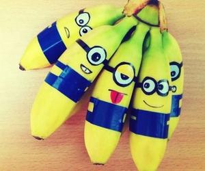 banana, minions, and fruit image