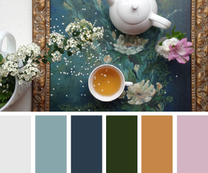 color, color palette, and flowers image