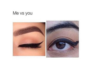 funny, makeup, and me image