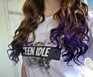 hair, purple, and tumblr image