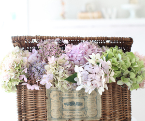 flowers and basket image