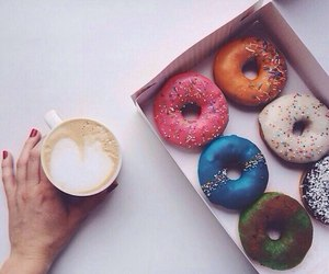 coffee, delicious, and donuts image