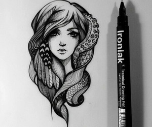 beauty, drawing, and illustration image