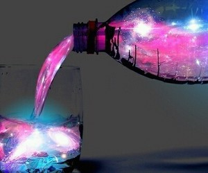 drink, neon, and sparkle image