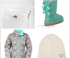 uggs, true religion, and north face image
