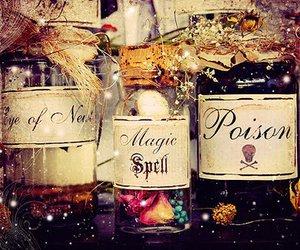magic, poison, and bottle image