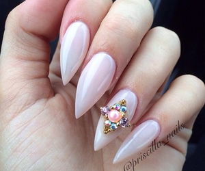 classy, girly, and nails image