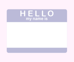 name tag and hello my name is image