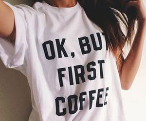 coffee, clothes, and morning image
