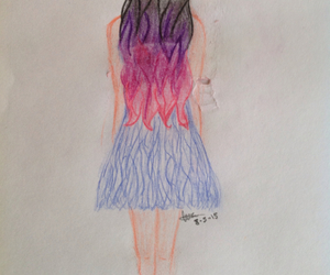 color hair, dibujo, and girl image