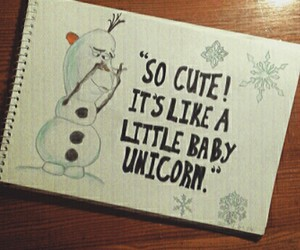 olaf and unicorn image