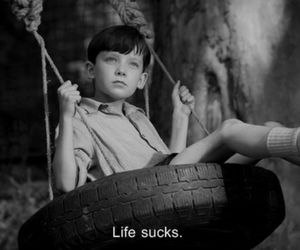 life, boy, and sucks image
