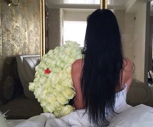 girl, Best, and flowers image
