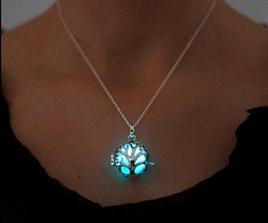 beautiful, glow, and necklace image