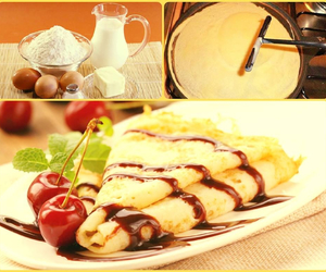 cooking, recipes, and crepes image