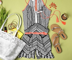 romper, summer, and tribal image