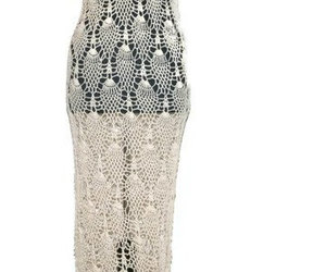 crochet, gown, and lace dress image